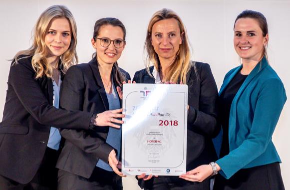 Auszeichnung familienfreundlicher Arbeitgeber 2019 Hofer KG  Wien, Aula der Wissenschaften,  Hofer KG Personalleitung