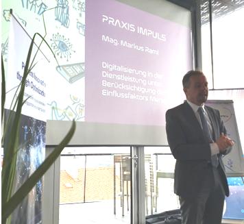 Mag. Markus Raml beim Praxis Impuls Digital Excellence beim Digital Transformation Workshop in Linz