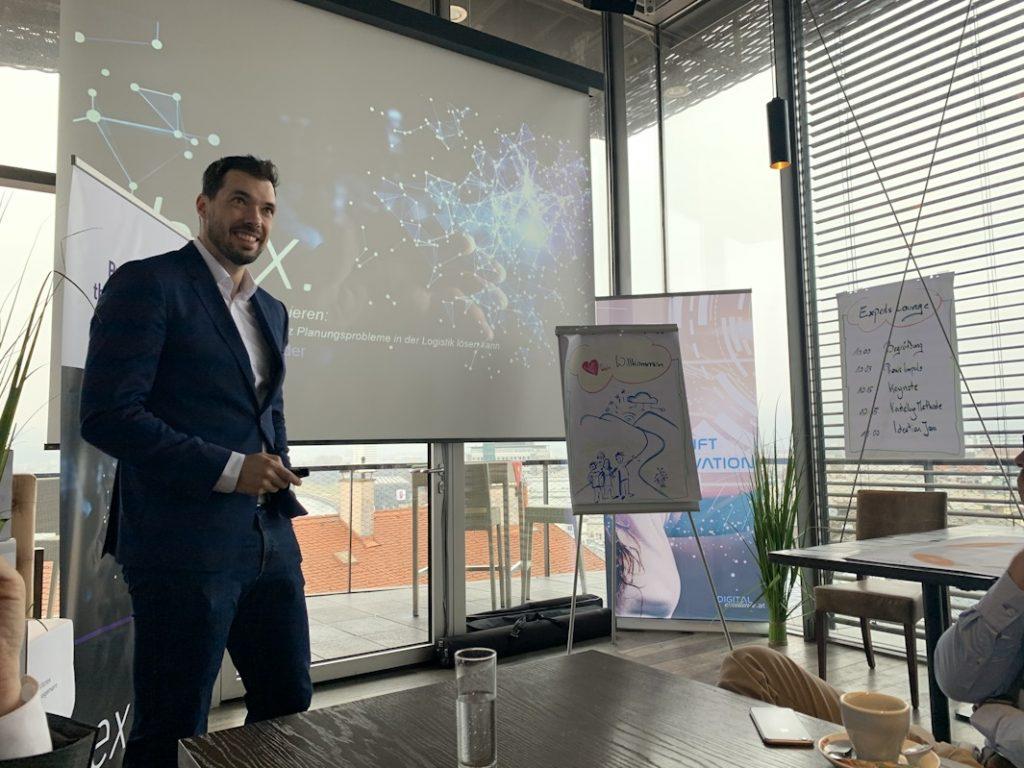 Dr. Phillip Hungerländer beim Digital Transformation Workshop Digital Excellence in Linz